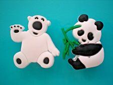 Jibbitz Croc Clog Shoe Charm Accessorie Bracelet WristBand Polar Bear Panda Bear