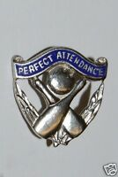 WOW Nice Vintage Perfect Attendance Bowling League Club Jacket / Lapel Pin