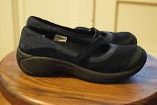 Merrell Encore Emme Navy Blue Women's 7 Mary Jane Suede Leather Shoes EUR 37.5
