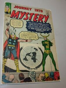 JOURNEY INTO MYSTERY # 94 Classic Early Thor, Loki Kirby Cover Ditko Art!!