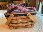 Longaberger 2002 Bee Basket with Protector, Fabric Liner & Handles