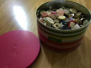 Joules tin of buttons