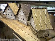 Primitive Hand Tooled Antique Ceiling Tin Tile Wren Bird House USA Shabby Chic