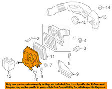 SUBARU OEM 15-16 Legacy Air Cleaner Box-Bottom Lower Housing Body 46052AL00B