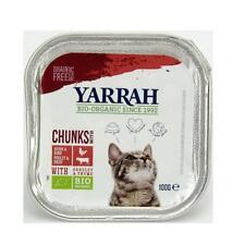 Yarrah Katzenbröckchen Katzenfutter Huhn & Rind Petersilie Thymian Schale 100 g