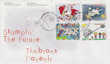 CANADA #1859-1862 46¢ STAMPIN THE FUTURE FIRST DAY COVER