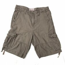 Mantaray Mens Beige / Brown Walking Zip Fly Combat Cargo Shorts Size 32