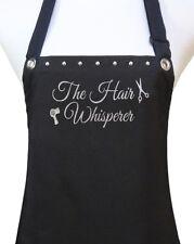 "Hair Stylist Apron ""The Hair Whisperer""  black salon polyurethane waterproof new"