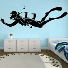 Diver Vinyl Stickers Extreme Sports Wall Decal Waterproof Decoration Dive Diving