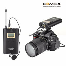 COMICA UHF Wireless Lavalier Microphone System for Canon Nikon DSLR Camera Phone