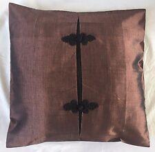 Pair of 'ELEGANT - Brown' Cushion Covers, 100% Thai Silk