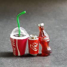 Coke Coca Cola Set Dollhouse Miniature Doll Mini Food Drink Tiny Soda Beverage