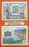 2 PRUEBA DE LUJO España 2006 EDIFIL Nº 92+93 EXFILNA ALGECIRAS VIDRIERAS MADRID
