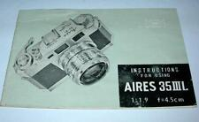Vintage Aires 35lll L User /Instructions Manual