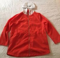 MOSCHINO Windbreaker Bright Orange White Lightweight VTG style jacket  SIZE XL