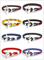 Whale Tail Bracelets Men Women Nautical Survival Rope Chain Paracord Bracelet