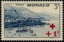 """MONACO STAMP TIMBRE N° 211 """" CROIX ROUGE  +1 F SUR 3 F """"  NEUF x TB"""