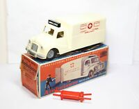 Mettoy Ambulance With Friction Drive In Its Original Box - County Council RARE