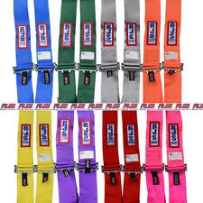 "Rjs Racing Equipment Seat Belt Harness 4014005; 3"" Orange 4-Point Latch & Link"