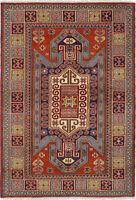 "Hand-knotted Carpet 4'7"" x 6'8"" Royal Kazak Traditional Wool Rug"