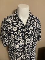 Vintage Tommy Hilfiger Hawaiian Flower Print Mens Button Down Shirt Large L