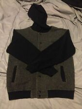 VANS Grey and Black Button up Jacket with Hood sz LG
