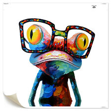 HD Canvas Prints Decor Wall Art Painting Picture-Happy Sunglasses Frog Unframed
