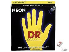 DR Strings K3 NEON Hi-Def YELLOW BASS NYB5-45 45-125 Five String Set