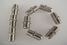 F Plug Line Coupler Barrel Adaptor Joiner 10 pack