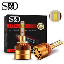 S&D 880 881 H27 LED Fog Bulb Headlight Conversion Kit 150000LM 6000K White Light