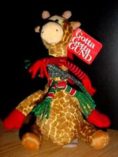 """Gotta Getta GUND rArE """"MY NAME IS SHIVERS"""" GIRAFFE with Scarves and Hat NWT"""