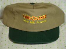 Vintage LAND O LAKES Trucker Hat Cap Animal Milk Products Flat Brim USA Made NOS
