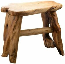TJ Global Natural Edge Cedar Wood Tree Stump Indoor/Outdoor Stool, Garden...