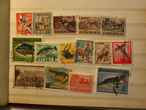 ANIMALS stamps lot