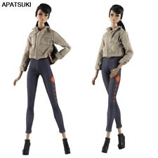 1set Fashion Doll Clothes Khaki Coat & Trousers Pants For 11.5in Doll House Toy