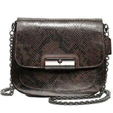 Coach 46369 Kristin Python Embossed Leather Crossbody (Quick Basic/Brown Black)
