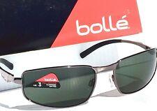 NEW* Bolle EVERGLADES Gunmetal polished w POLARIZED Grey Green Sunglass 11789