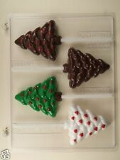 CHRISTMAS TREE WITH HEARTS LOLLIPOP CLEAR PLASTIC CHOCOLATE CANDY MOLD C171