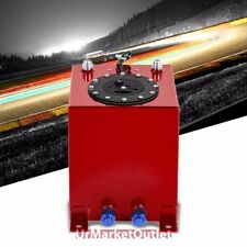 Red Aluminum 2.5 Gallon/9.5L Gas Fuel Cell Tank/Black Cap Door+Level Sender