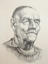 Old man portrait art print