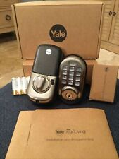 Yale Locks Assure Lock Push Button with Z-Wave in Satin Nickel (Yrd216-Zw2-619)