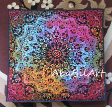 "35"" Star Mandala Extra Large Floor Cushion Pillow Cover Square Pet Dog Bed Cover"