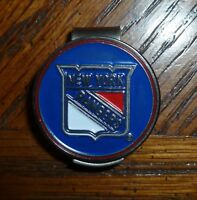 "New York Rangers NY 1"" Golf Ball Marker 2 Sided & hat clip ~ NHL Licensed"