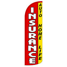 Insurance Extra Wide Windless Swooper Flag