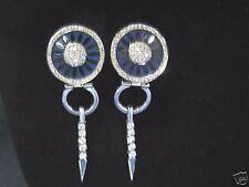 La Nouvelle Bague Enamel Diamond White Gold Earring 18KT