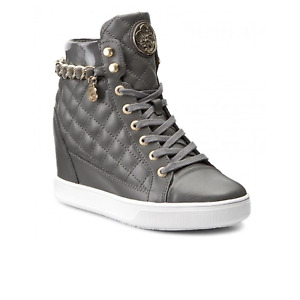 Guess Quilted Finish High Top Trainers