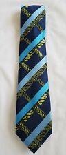 Mens Multicolor Henri Picard 100% Microfiber Striped Handmade Necktie