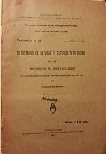 Resultados de un viaje de Estudios Geologicos Chubut. R. Wichmann. 1927. NR
