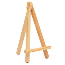 1-10PCS Mini Wooden Cafe Table Number Easel Wedding Place Name Card Holder R4N6
