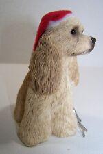 "Sandicast Cocker Spaniel Dog Ornament 3.25""T Buff Beige Hand Cast & Painted Box"